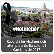 Record a les víctimes dels atemptats